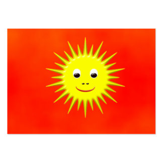 Smiling Sun with orange sky business card