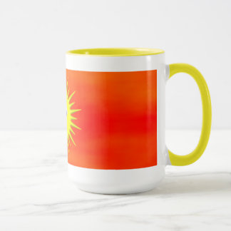 Smiling Sun with orange sky mug