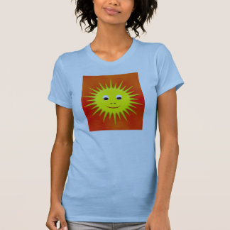 Smiling Sun with orange sky T-shirt