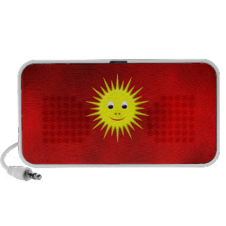 Smiling Sun with red sky speakers