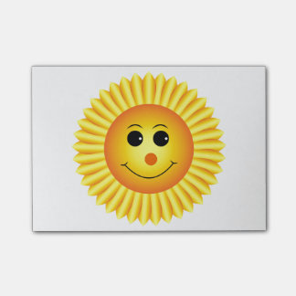 Smiling Sunflower Post-it® Notes