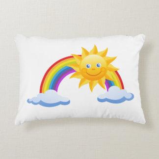 Smiling Sunshine Rainbow Decorative Cushion