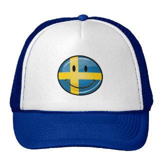Smiling Swedish Flag Cap