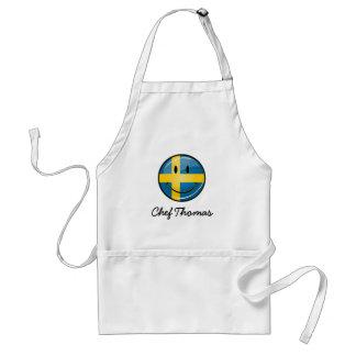 Smiling Swedish Flag Standard Apron