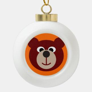 Smiling Teddy Bear Ceramic Ball Decoration