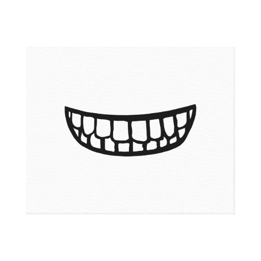 Smiling Teeth Gallery Wrapped Canvas