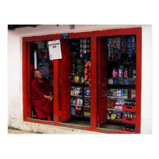 Smiling Tibetan Monk Postcard
