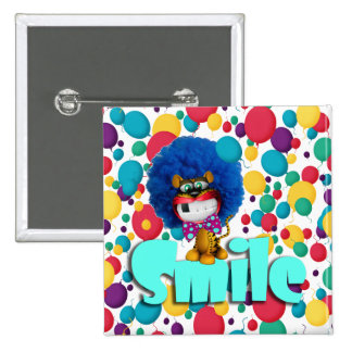 Smiling to tiger pinback buttons