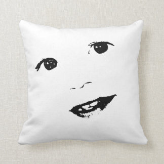 Smiling Toddler Boy Face Cushion