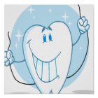 Smiling Tooth Cartoon Character Always Floss Poster