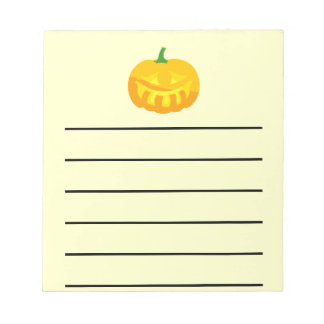 Smiling toothy Jack-O-'Lantern Notepad