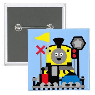 Smiling Train 15 Cm Square Badge