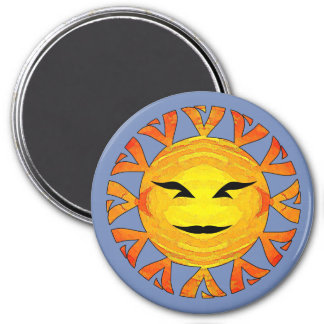 Smiling Tribal Sun Magnet