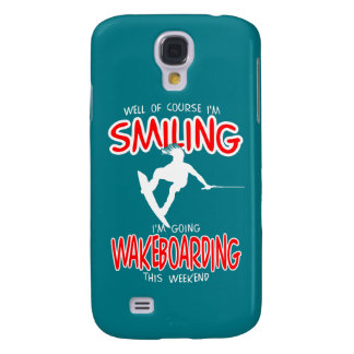 SMILING WAKEBOARDING Weekend 1 WHITE Galaxy S4 Case