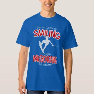 SMILING WAKEBOARDING Weekend 1 WHITE T-Shirt