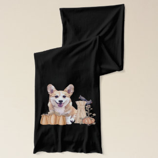 Smiling Welsh Corgi Puppy Scarf