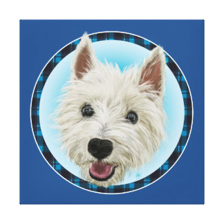 Smiling West Highland Terrier Canvas Print