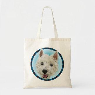 Smiling West Highland Terrier Budget Tote Bag