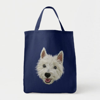 Smiling West Highland Terrier Grocery Tote Bag