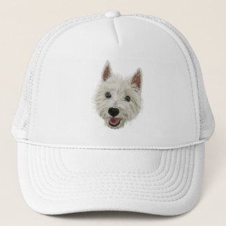 Smiling West Highland Terrier Trucker Hat