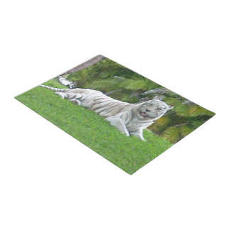 Smiling White Tiger and Palm Trees Doormat