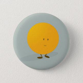 Smiling whole orange 6 cm round badge