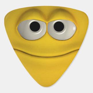 Smiling Yellow Emoticon Plectrum