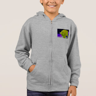 Smiling yellow fish-jacket hoodie