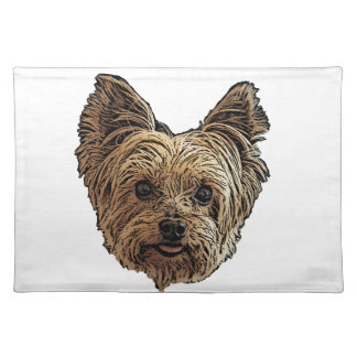 Smiling Yorkie Placemat