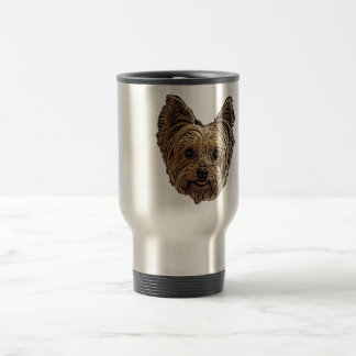 Smiling Yorkie Travel Mug