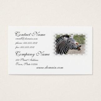 Smiling Zebra Business Card