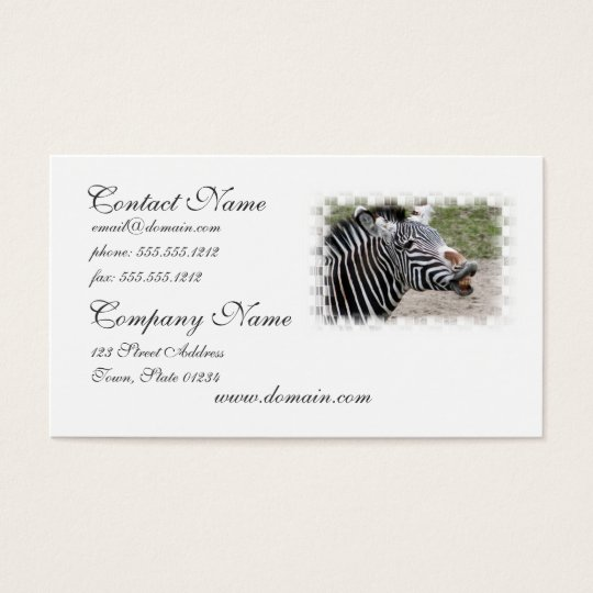 Smiling Zebra Business Card