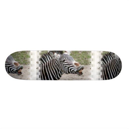 Smiling Zebra Skateboard