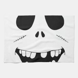 Smiling Zombie Face Tea Towel