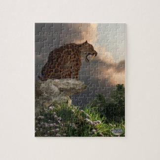 Smilodon Californicus Lookout Jigsaw Puzzle