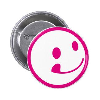 SMILY 6 CM ROUND BADGE