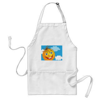 Smily face and clouds aprons