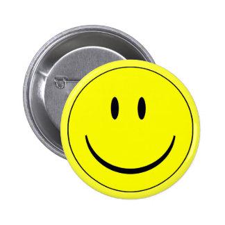 Smily face bottin 6 cm round badge