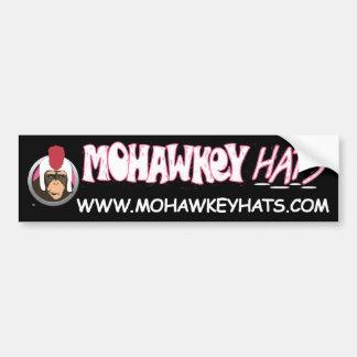 Smirkey Mohawkey Monkey bumper sticker