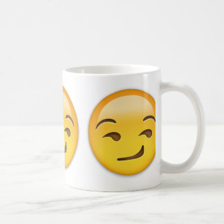 Smirking Face Emoji Basic White Mug