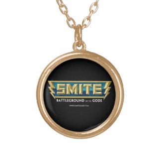 SMITE Logo Battleground of the Gods Round Pendant Necklace