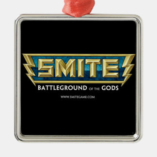SMITE Logo Battleground of the Gods Silver-Colored Square Decoration