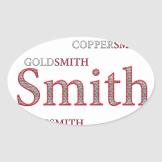 SMITH BRAND OVAL STICKER