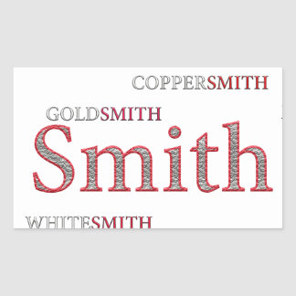 SMITH BRAND RECTANGULAR STICKER