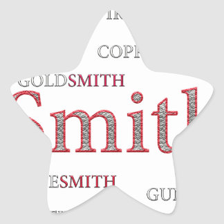 SMITH BRAND STAR STICKER