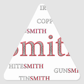 SMITH BRAND TRIANGLE STICKER