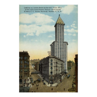 Smith Building Seattle 1915 Vintage Poster