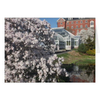 Smith College Lyman Plant House in Spring Card
