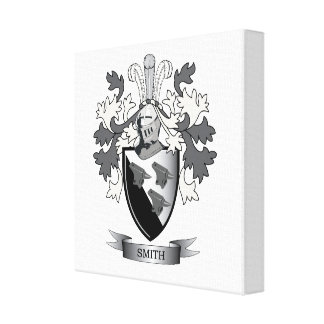 Smith Family Crest Coat of Arms Canvas Print