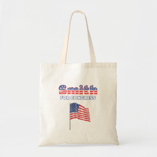 Smith for Congress Patriotic American Flag Design Bags